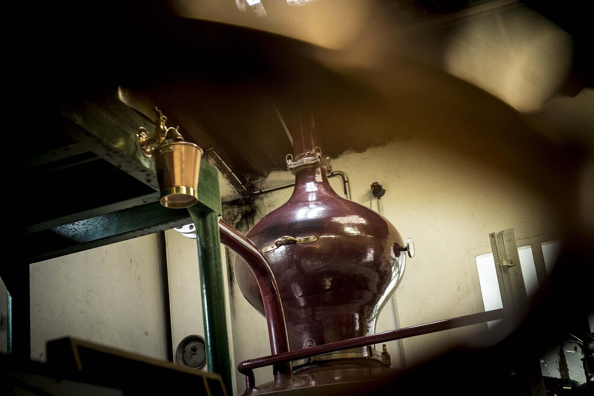 Alambic charentais de la distillerie Painturaud