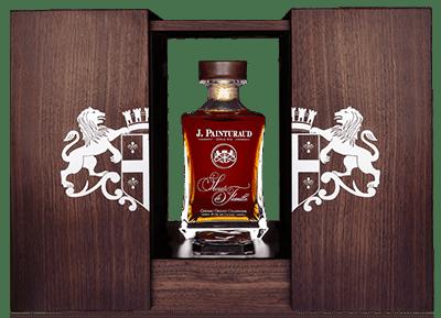 bouteille coffret tres vieux cognac painturaud secrets famille 80 ans carafe ouvert